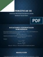 Ecuaciones diferenciales homogéneas  y exactas