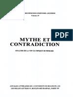 Bresson, Mythe Et Contradiction. Analyse de La VIIe Olympique de Pindare, Les Belles Lettres 1979