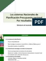 Los Sistemas Nacionales de Planificación-Presupuesto