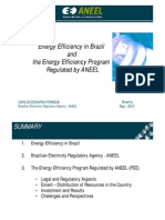 Energy Efficiency in Brazil and the Energy Efficiency Program Regulated by ANEEL