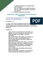 DSM-IV TDAH