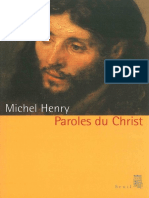Henry, Michel - Paroles Du Christ