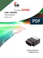 Gv500 User Manual v1.00