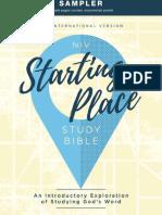 NIV Starting Place Bible Sampler