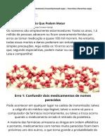 10 Erros de Medicação Que Podem Matar _ Saúde - TudoPorEmail