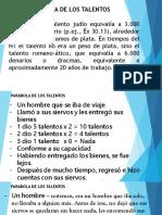 LA PARÁBOLA DE LOS TALENTOS