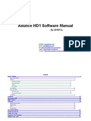 Ailunce HD1 Software Manual: - By Bh6Pjl