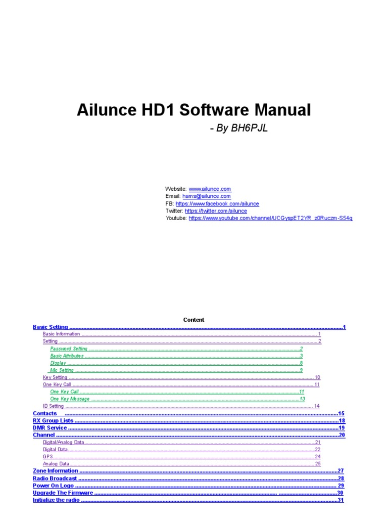 Ailunce Hd1 Software