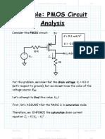 Example PMOS Circuit Analysis