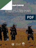 Convenios entre la PNP y empresas extractivas