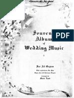 Souvenir Abum of Wedding Music