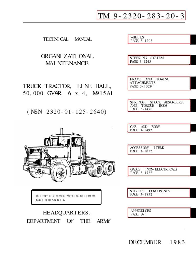 M915a1 Tm 9 2320 283 20 3 Tire Screw 2320a Receptacle Twist Lock Wiring Diagram