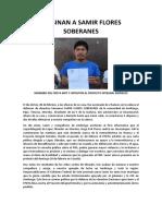 Comunicado del Frente de Pueblos en Defensa de la Tierra y el Agua Morelos, Puebla, Tlaxcala por asesinato de Samir Flores