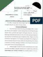 Christopher Hasson Affidavit Criminal Complaint