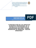 Memoria Descriptiva Postgrado