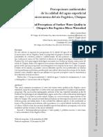 [Articulo] Percepciones Ambientales de La Calidad Del Agua Superficial en La Microcuenca Del Rio Fogotico, Chiapas, Maria Cristina Benez
