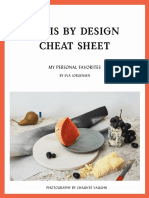 Paris by Design Cheat Sheet