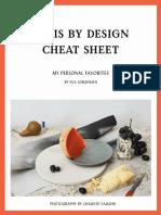 Paris by Design Cheat Sheet