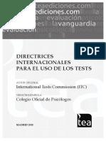 Directrices Internacionales Para El Uso de Los Test