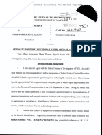 Coast Guard Officer Arrest - Criminal Affidavit