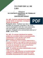 ACERCA DO CONTRATO INDIVIDUAL DE TRABALHO-CONSIDERAÇÕES GERA