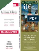 programa Feria del Libro Minería 2019