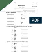 English Exam Bimestral 3ro de Primaria