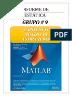 Informe de Estatica MATLAB Cap. 6