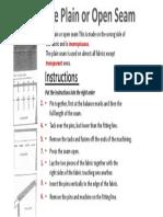 Seams Instructions
