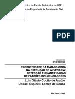 Boletim Técnico_Produtividade da Mão de Obra na Execução de Alvenaria_Luis O. C. de Araújo_USP.pdf