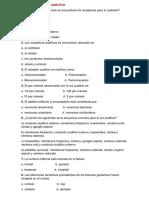Cuestionario Vía Auditiva