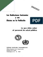 Las radiaciones ionizantes y sus efectos