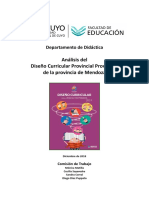 Análisis Del DCP Provisorio de La Provincia de Mendoza UNCuyo
