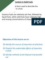 Lecture 5_Ash Content in Soilid Fuels