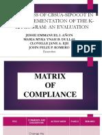 Matrix of Compliance