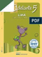 Comprensión de lectura Lima 5to Profesor
