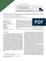 Produccion de biodiesel por medio de cavilación hidrodinámica