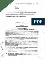 ley 165 Bolivia