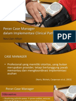 Implementasi Case manager terhadap clinical pathway