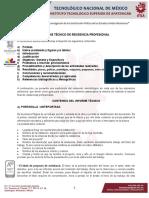 5 Estructura Del Informe Técnico de Residencias