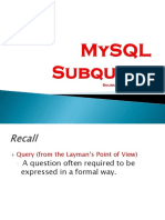 Mysql Subquery