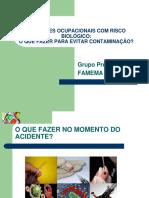 ACIDENTES OCUPACIONAIS COM RISCO BIOLÓGICO.ppt