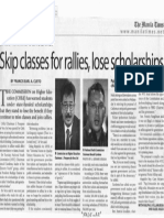 Manila Times, Feb. 21, 2019, Skip classes for rallies, lose scholarships.pdf