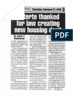 Peoples Journal, Feb. 21, 2019, Duterte thanked for law creating new housing dep't.pdf