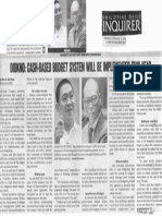Philippine Daily Inquirer, Feb. 21, 2019, Diokno cash-based budget system will be implemented this year.pdf