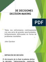 organización de toma de decisiones para formación
