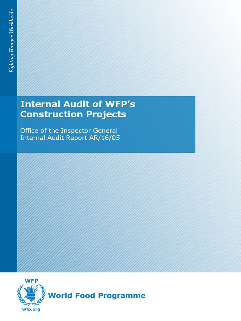 Internal Audit of WFP's Construction Projects