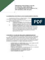 Administración Pública en El Ordenamiento Español