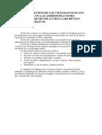 Ciudadanos y Relaciones Con Las Administraciones Publicas