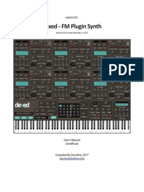 dexed manual | Synthesizer | Plug In (Computing)